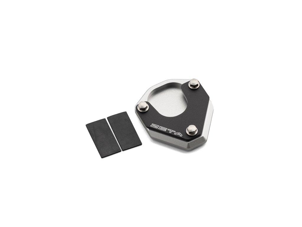ZETA Rozšírovacia podložka bočného stojanu čierno/strieborná DRZ400S/SM'00-