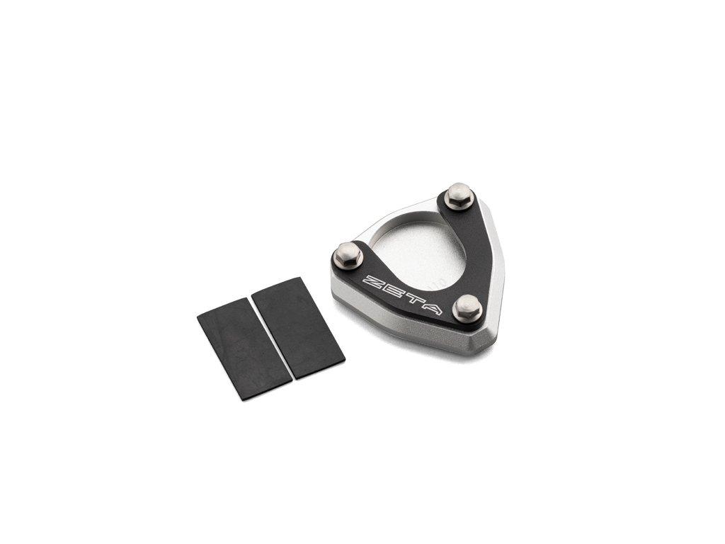 ZETA Rozšírovacia podložka bočného stojanu čierno/strieborná Husky701E, KTM690ED