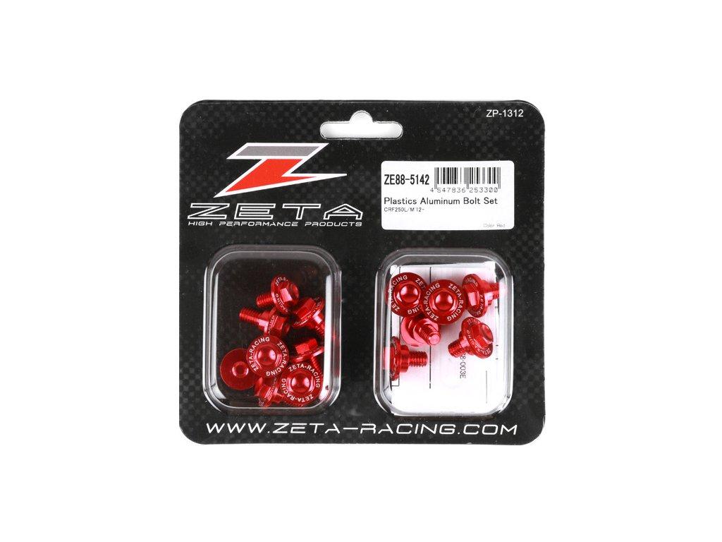 ZETA Sada hliníkových skrutiek do plastov CRF250L 14ks červená
