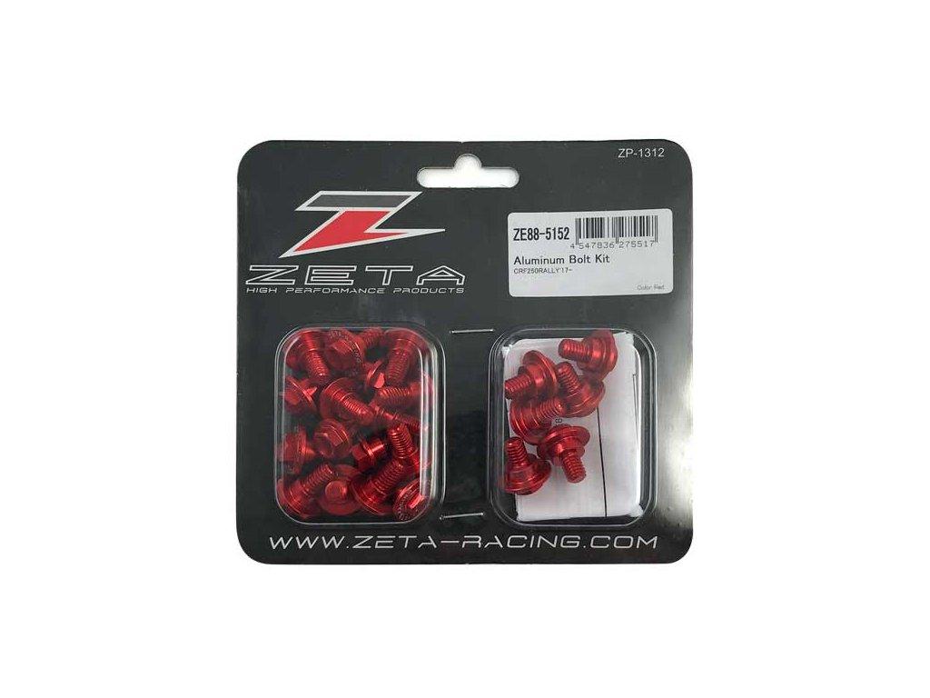 ZETA Sada hliníkových skrutiek do plastov CRF250Rally 22ks červená