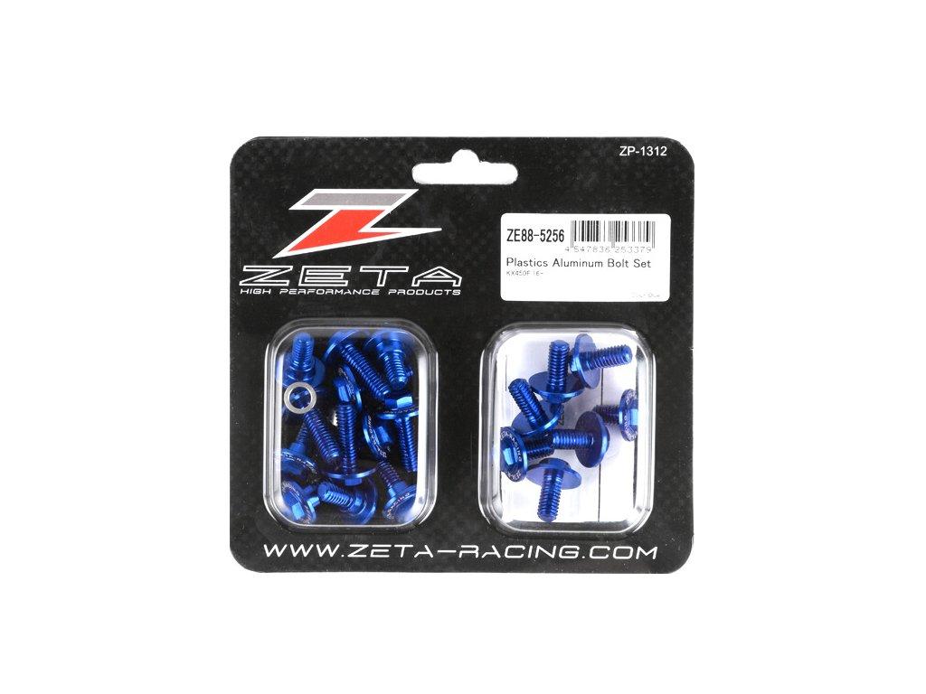 ZETA Sada hliníkových skrutiek do plastov KX450/F'16- 21ks modrá