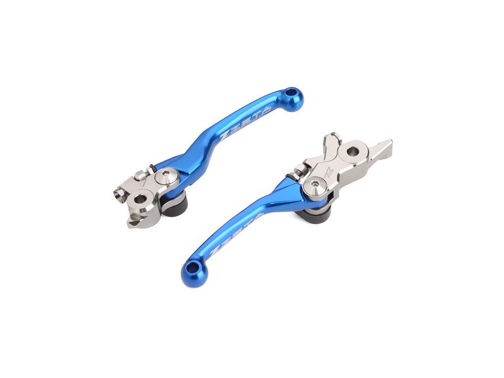 ZETA sada kovaných výklopných páčiek FP Magura/HQV TE150-300'19-,FE250-501'19-,TX125/300'19-,FX350/450'19- H-Blue