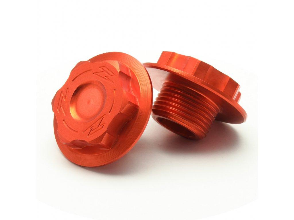 ZETA Skrutka krku riadenia KTM M20x27-P1.5 L11.5 oranžová