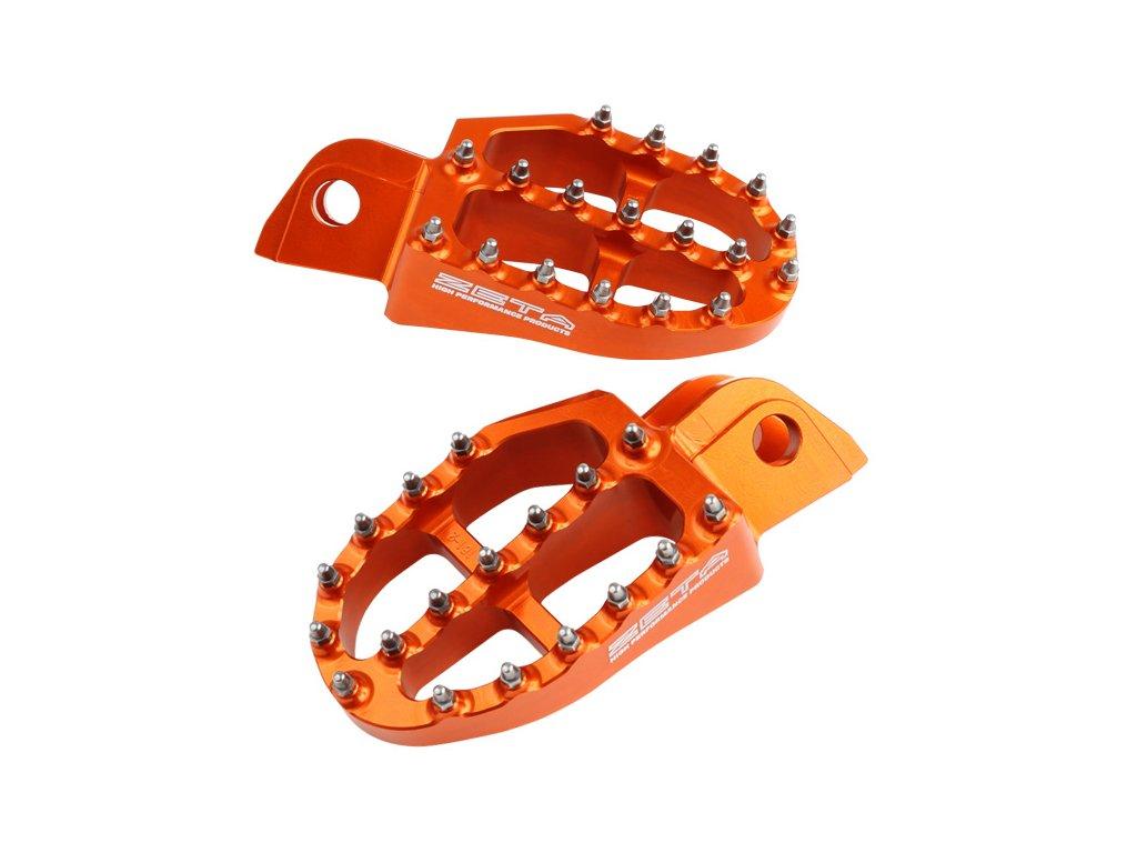 ZETA Stupačky hliníkové KTM SX -'15 Oranžové