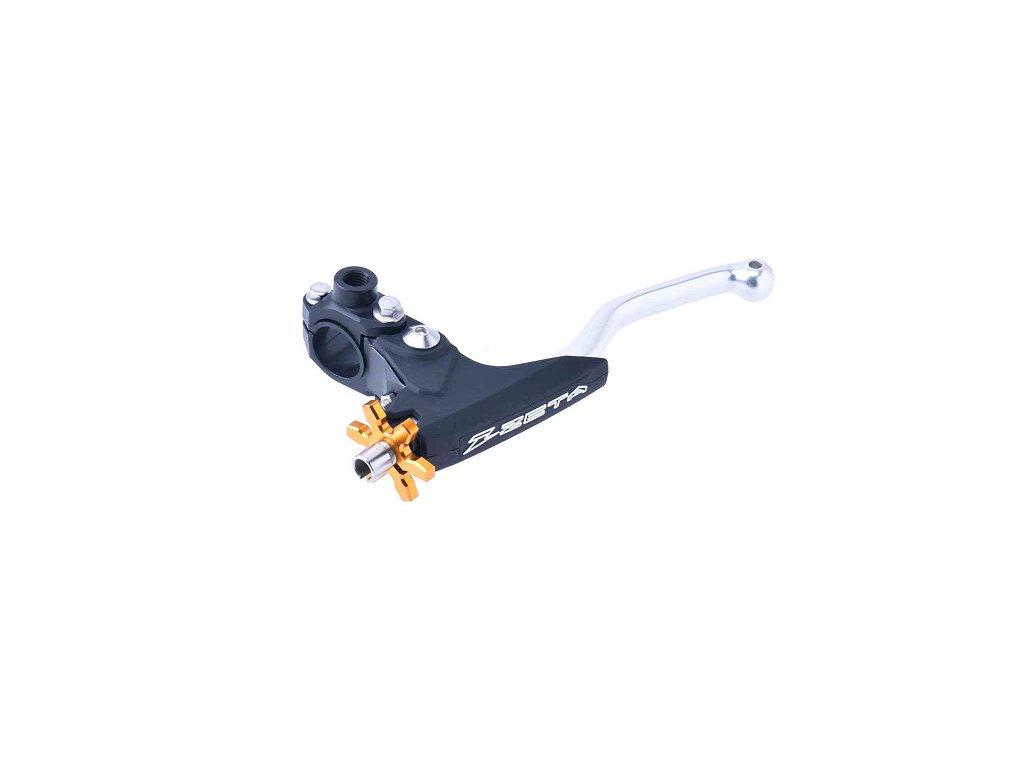 ZETA UltraLight výklopná páčka spojky kovaná s objímkou 3 prsty Ti/Gold