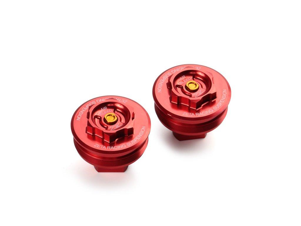 ZETA Veko - zátka prednej vidlice CRF250L/M'13-, CRF250RALLY'17- Červená