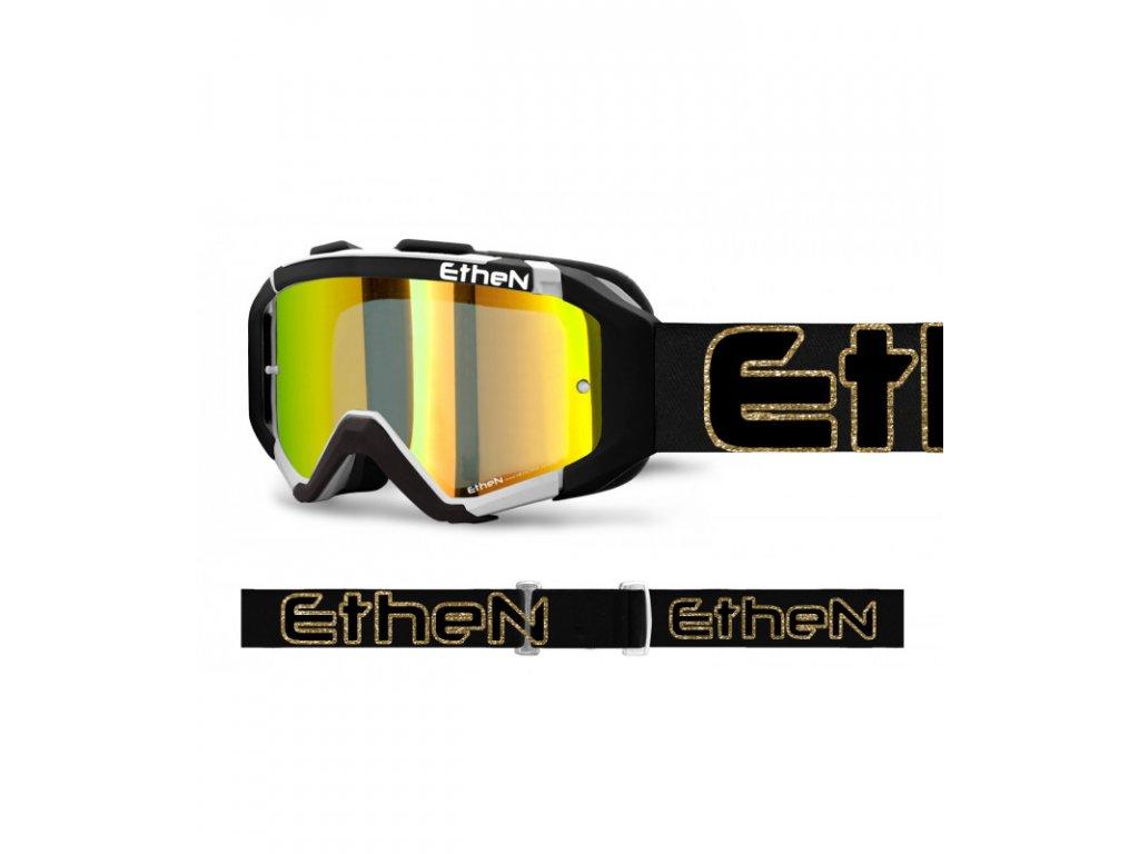 ARES 0727 PLUMA MX okuliare čierno - zlaté so zrkadlovým sklom TOP MODEL