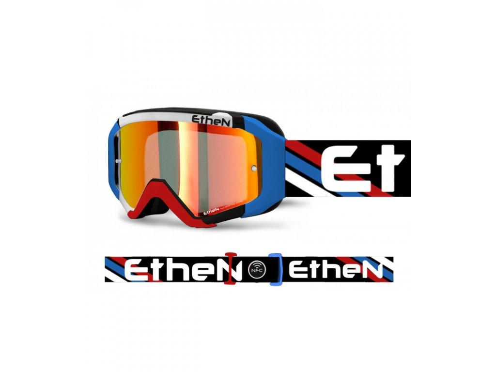 MX05R 0580 MX okuliare trikolora s červeným zrkadlovým sklom