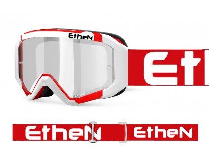 05 PRIMIS 0582 MX okuliare bielo - červené s čírím sklom