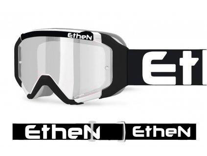 05 PRIMIS 0584 MX okuliare čierno - biele s čírím sklom