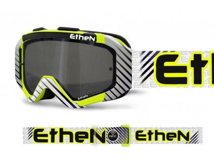 ARES 0722 MX okuliare STRIPES so zrkadlovým strieborným sklom TOP MODEL