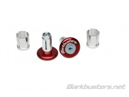 Barkbusters  koncovky riadidiel eloxované - červené
