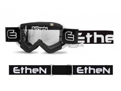 MUD MASK MUD0502 motokrosové okuliare čierne s čírym sklom Roll Off 40mm