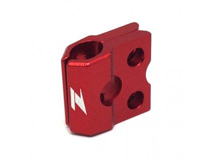 ZETA ALU objímka prednej brzdovej hadice CR/CRF'04-,CRF250L Červená