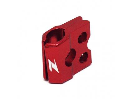 ZETA ALU objímka prednej brzdovej hadice KXF/KLX, RM/RMZ Červená