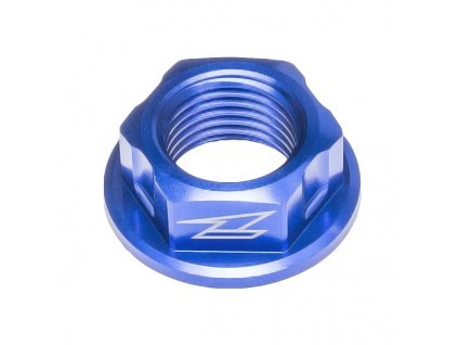 ZETA Hliníková matica osky M16x22-P1.5 H11 Modrá