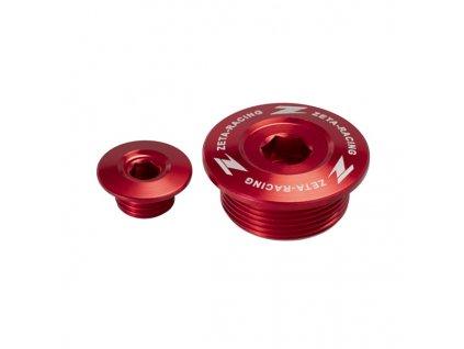 ZETA Hliníková zátka motora CRF250L Červená