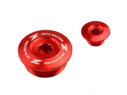 ZETA Hliníková zátka motora CRF250R '18- Červená