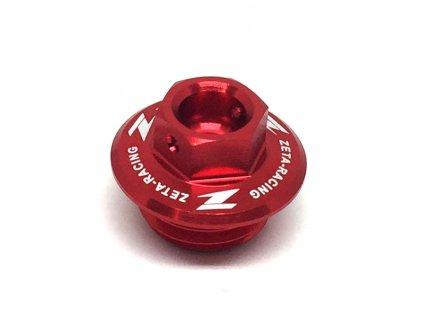 ZETA Olejová zátka motora CR/CRF/CRF250L,YZ/YZF/WRF, KLX červená