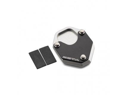 ZETA Rozšírovacia podložka bočného stojanu čierno/strieborná CRF250L/LD/M/Rally/RLD'17-