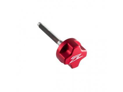 ZETA Skrutka klietky vzduchového filtra ALU červená dlžka : 50mm