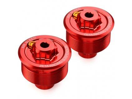 ZETA Veko - zátka prednej vidlice CR85/RM85/CRF150R Červená