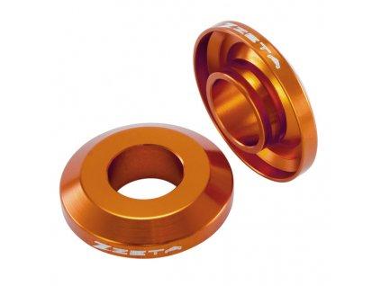 ZETA Vymedzovacie podložky FAST- zadné s krytom gufier KTM125-450SXF '13- Oranžové