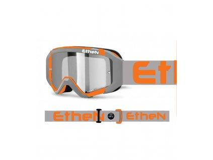 MX05R 0590 MX okuliare ŠEDO - ORANŽOVÉ so zrkadlovým sklom
