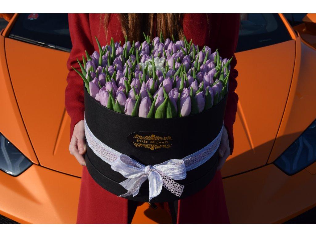 Tulips Box Purple Kaba