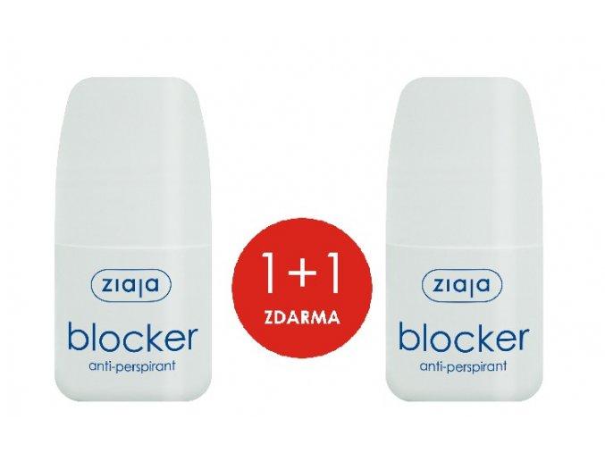 1+1 ZDARMA Antiperspirat Blocker 60ml+ antiperspirant Blocker 60ml