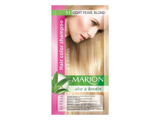 marion tónovací šampon 51 light pearl blonde