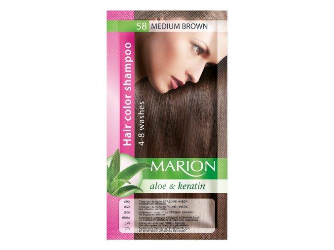 marion tónovací šampon 58 medium brown