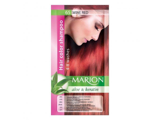 marion tónovací šampon 65 wine red