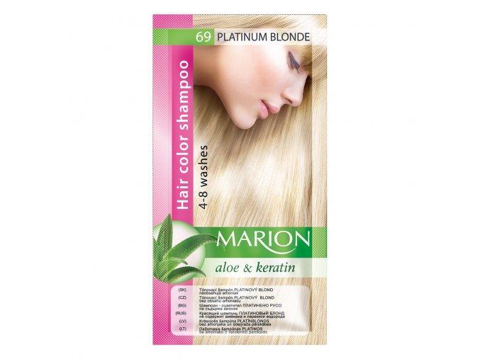marion tónovací šampon 69 platinum blonde