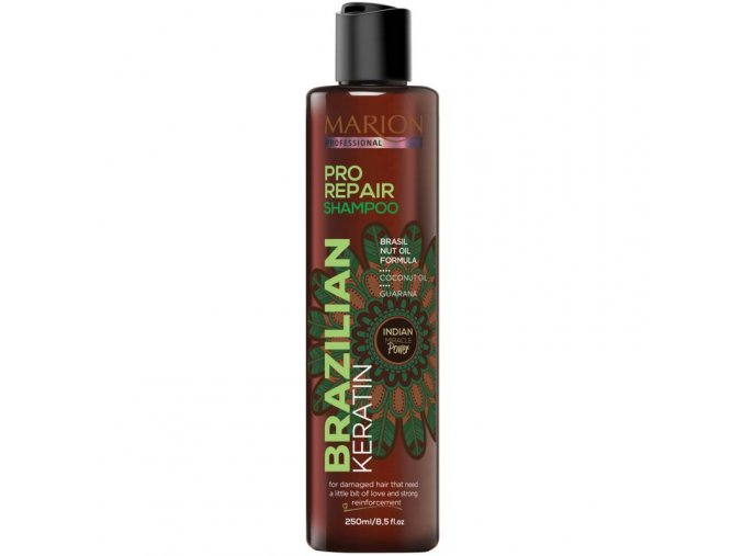 marion brazilsky keratin pro repair sampon pro poskozene vlasy 250 ml