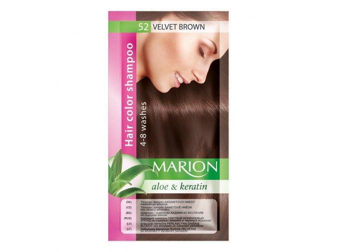marion tónovací šampon 52 velvet brown