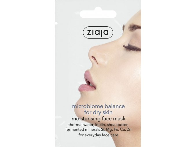 15672 GB DE ES CZ SK HU MICROBIOME FACE MASK FOR DRY SKIN SACHET 60538