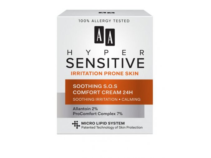 AA AA Hypersensitive Soothing SOS Comfort Cream new 428x570