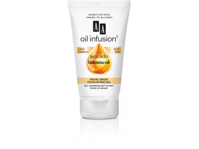 AA Oil Infusion facial wash gel 243x570