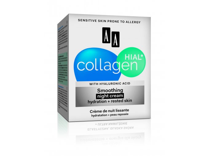AA COLLAGEN HIALU+ night cream box