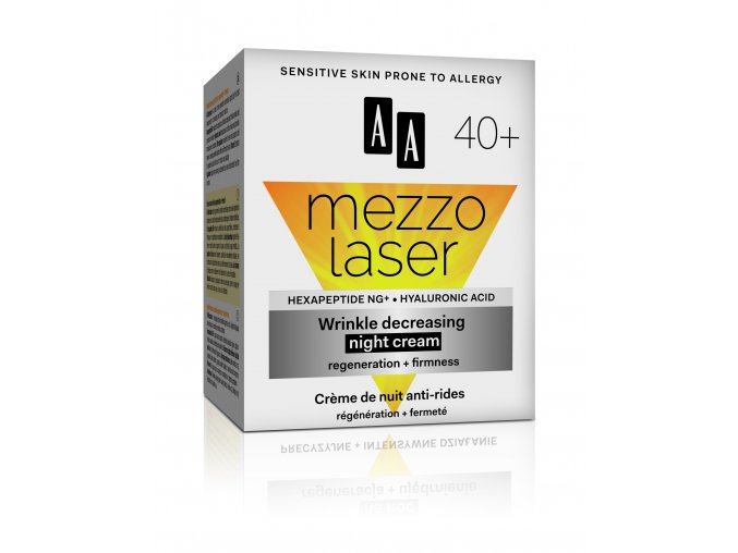 AA MEZZOLASER 40+ night cream box