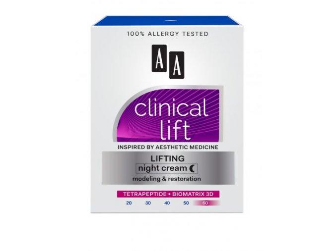 AA CLINICAL LIFT 60 krem na noc kartonik 0 428x570