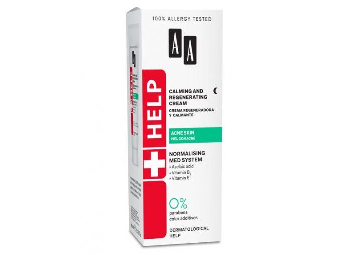 AA HELP ACNE Calming and Regenerating Cream 529x570