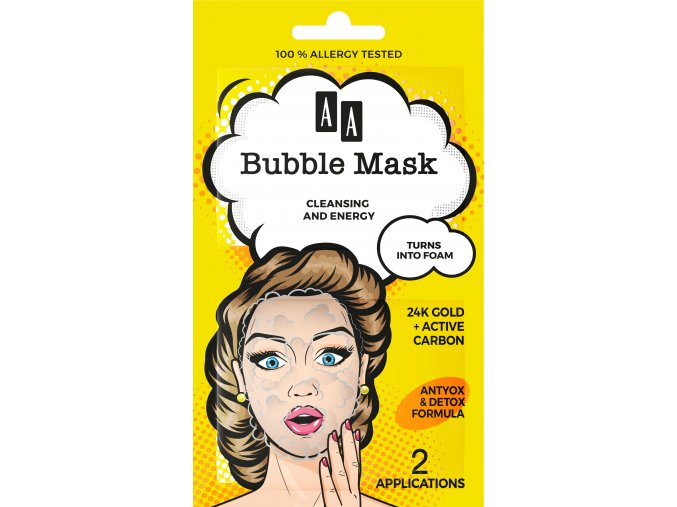 Oceanic AA bubble mask zloto 24k front