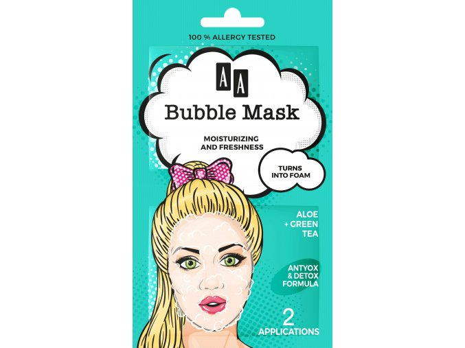 Oceanic AA bubble mask aloes front