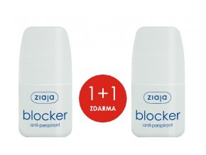 1+1 ZDARMA Antiperspirat Blocker 60ml+ antiperspirant Blocker 60ml