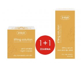 1+1 ZDARMA Lifting solution denní krém 50ml + Lifting solution sérum na okolí očí a rtů 30ml
