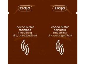 Ziaja Kakaové máslo Šampon na vlasy 7 ml + maska na vlasy 7 ml sachet