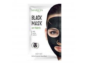 marion pláténková maska s aktivním uhlím