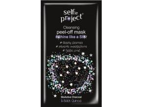 selfie project  čisticí slupovací hvězdná maskazářivá jako hvězdy 12 ml